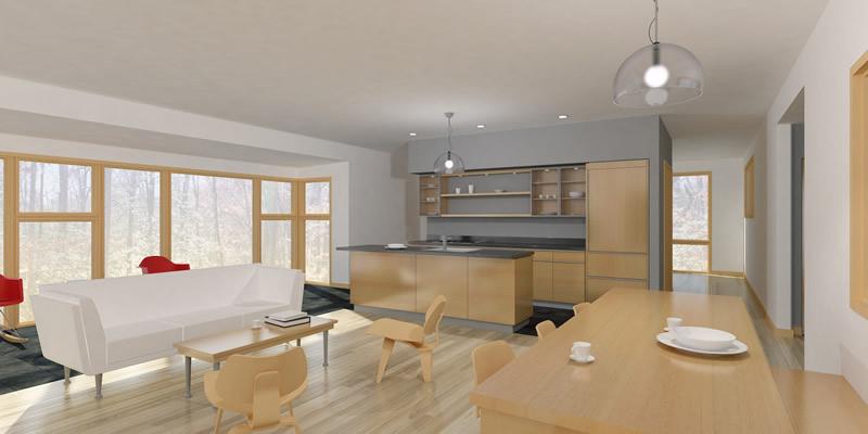 Modern Prefab Cabin The Passive Solar Dogtrot Mod House