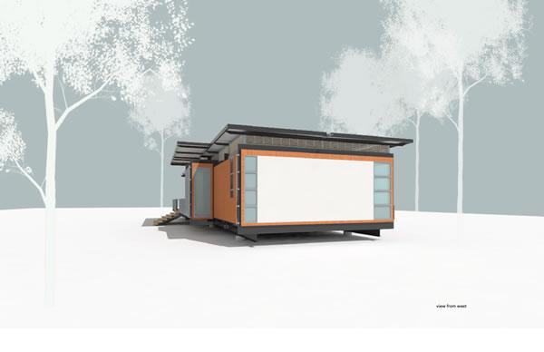 Modern Prefab Cabin - The Passive Solar Dogtrot Mod House
