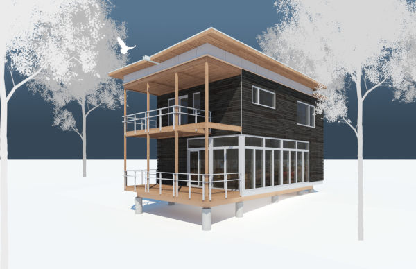 Prefab Green Homes Green Cabin Kits - Modern house kits